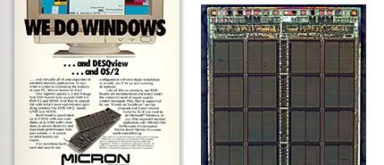 1988 年:美光達到 1-Megabit DRAM 里程碑