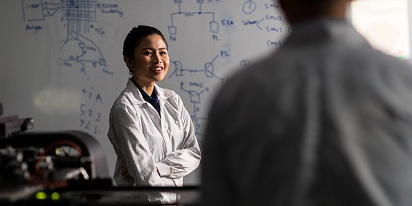 Woman of color scientist and engineer