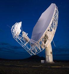 Satellite watching the night sky