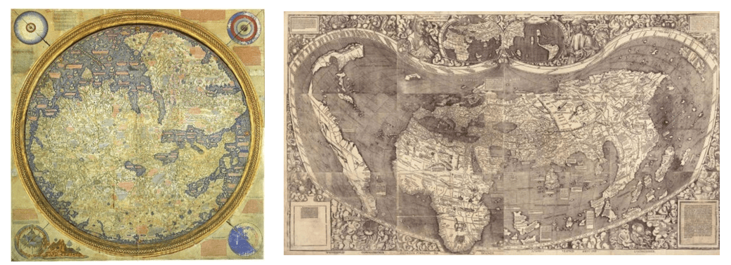 Ancient maps of earth