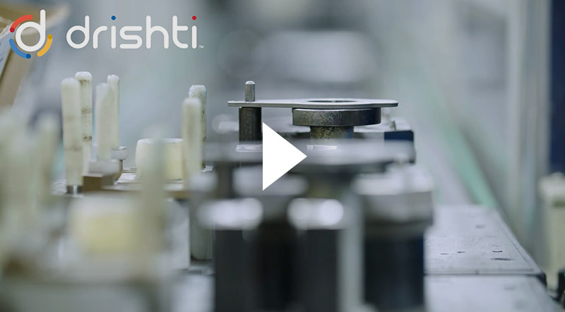 Screenshot of a manufacturing automation video