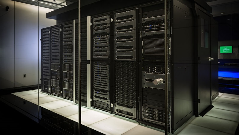 Image of servers in a data center