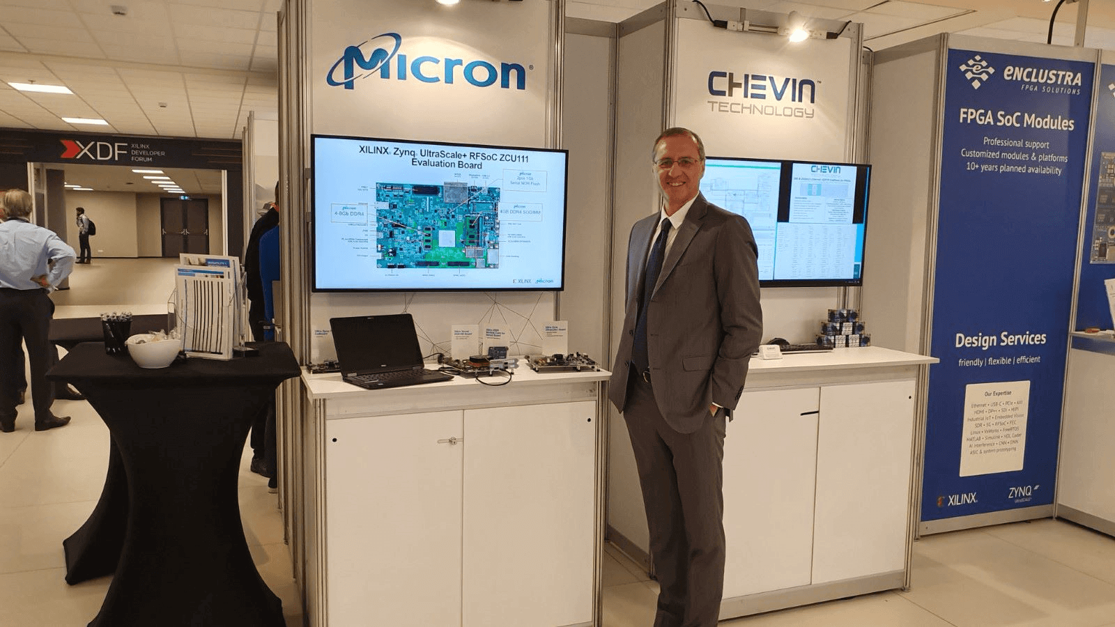 Micron booth at XDF