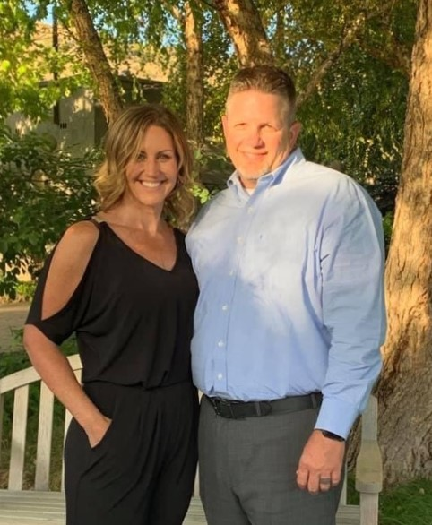 Mike Thiel and his wife