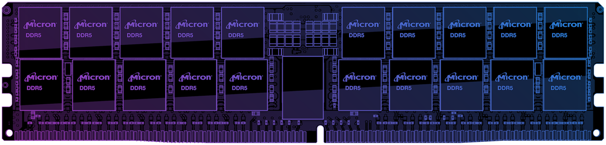 Illustration of a DDR5 module