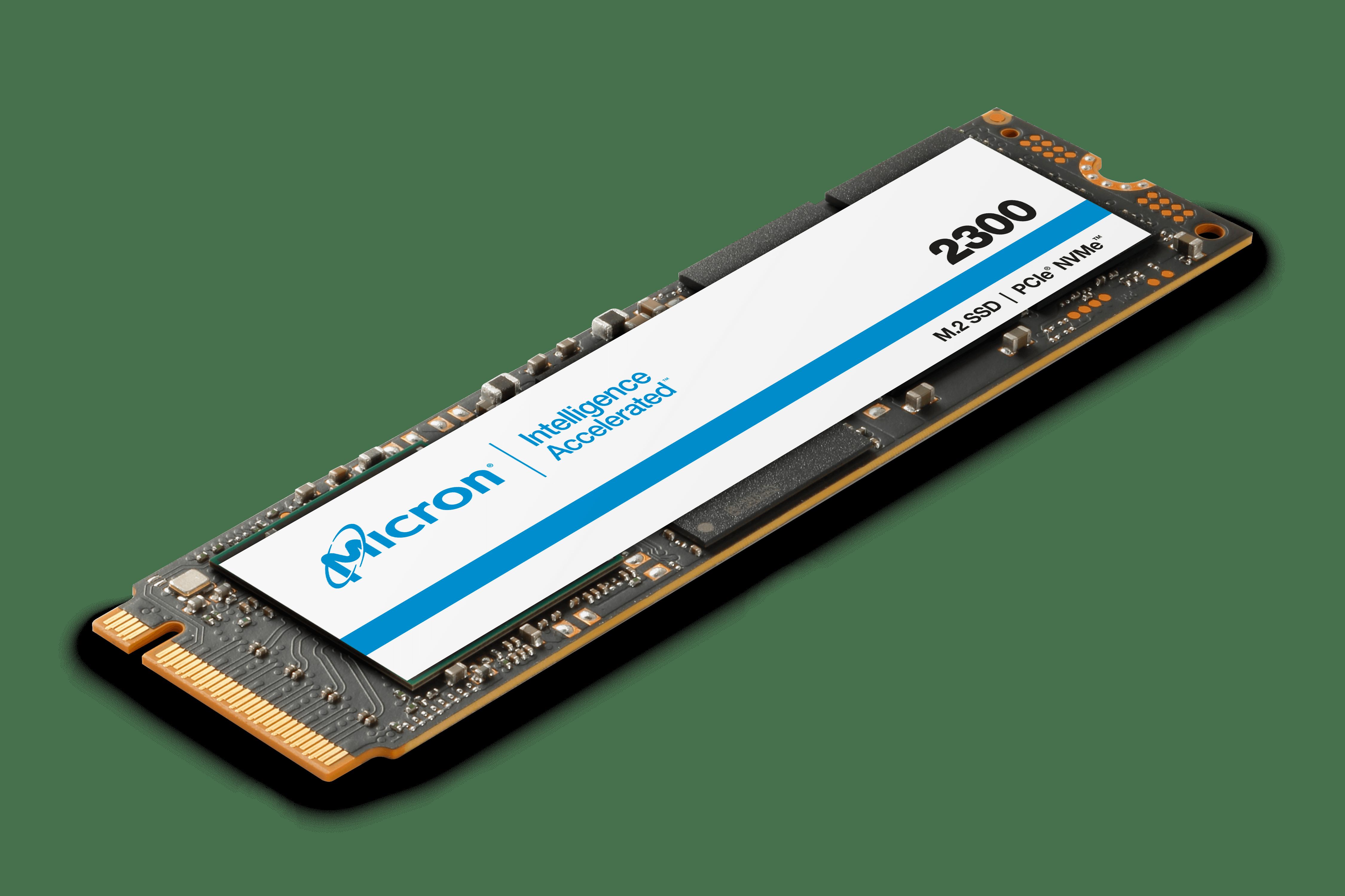 美光 2300 SSD 搭載 NVMe 的等距圖