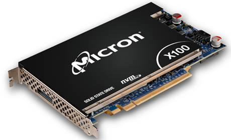 Micron X100 NVMe SSD. This solution leverages the stregnths of 3D Xpoint technology.