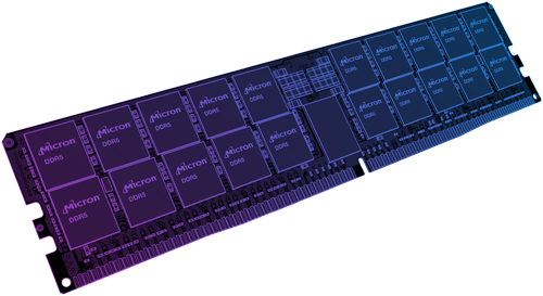 Illustration of a DDR5 RDIMM module