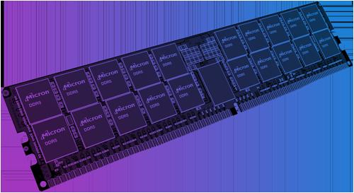 Illustration of a DDR5 RDIMM module
