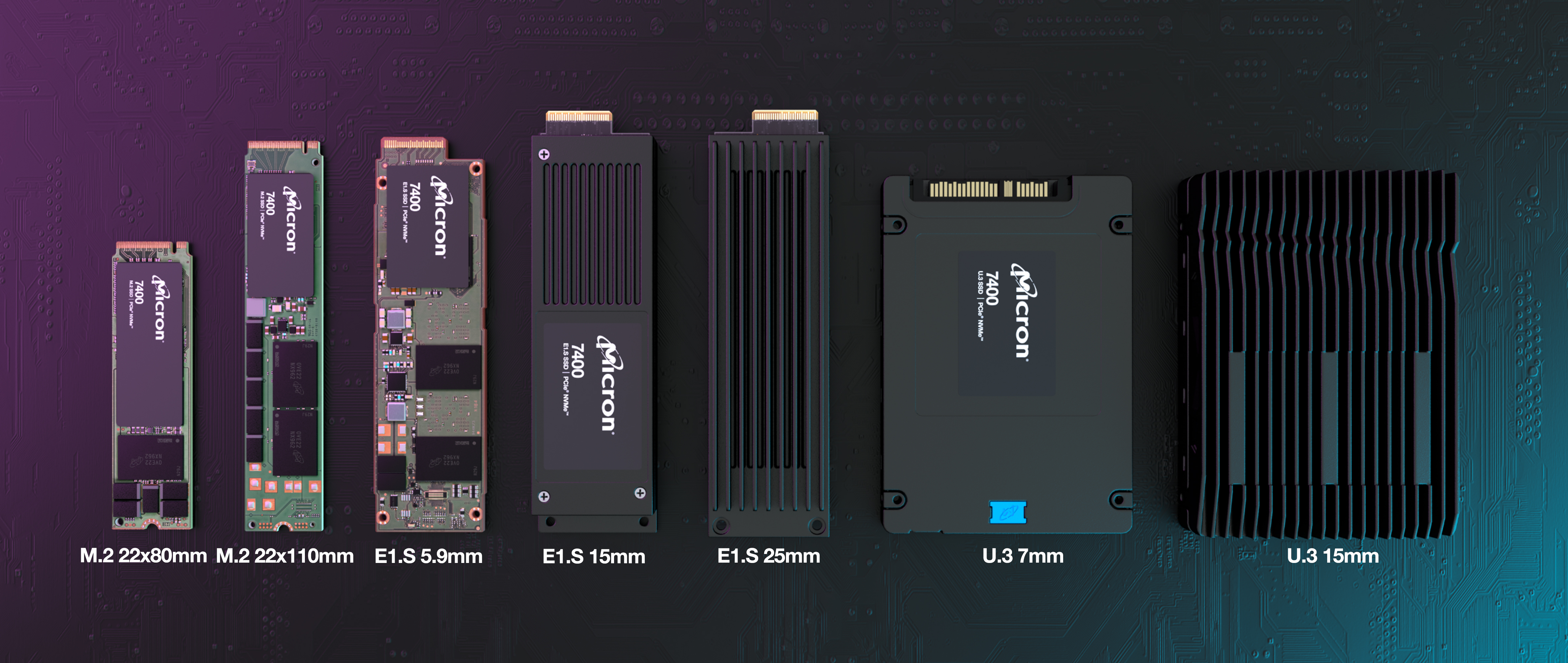 Image of 7400 SSD family with background texture