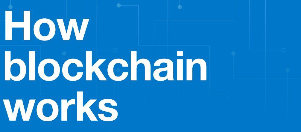 How Blockchain Works Infographic